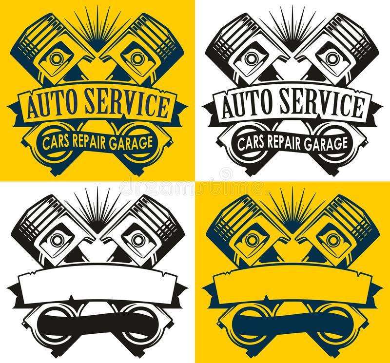 Selbstservice-Logo lizenzfreie abbildung