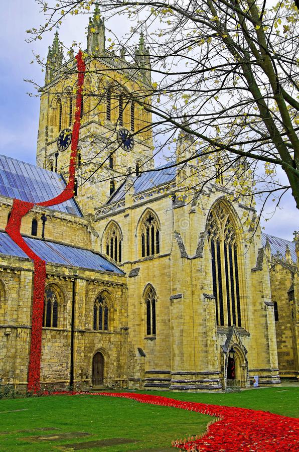 Selby Cathedral Poppy Centenary Memorial fotografia de stock royalty free