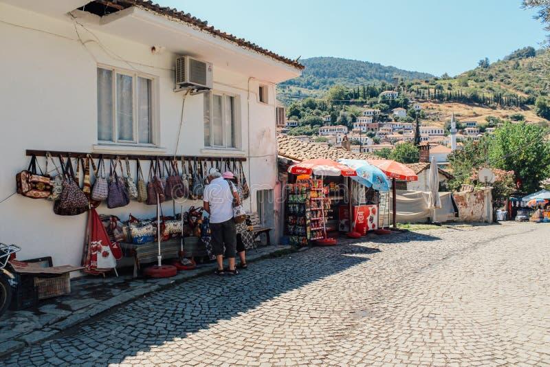 Street market at Sirince village in Selcuk, Turkey royalty free stock photos