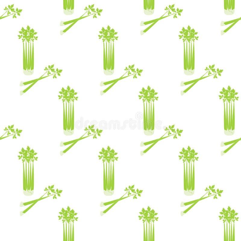 Selderie naadloos patroon vector illustratie