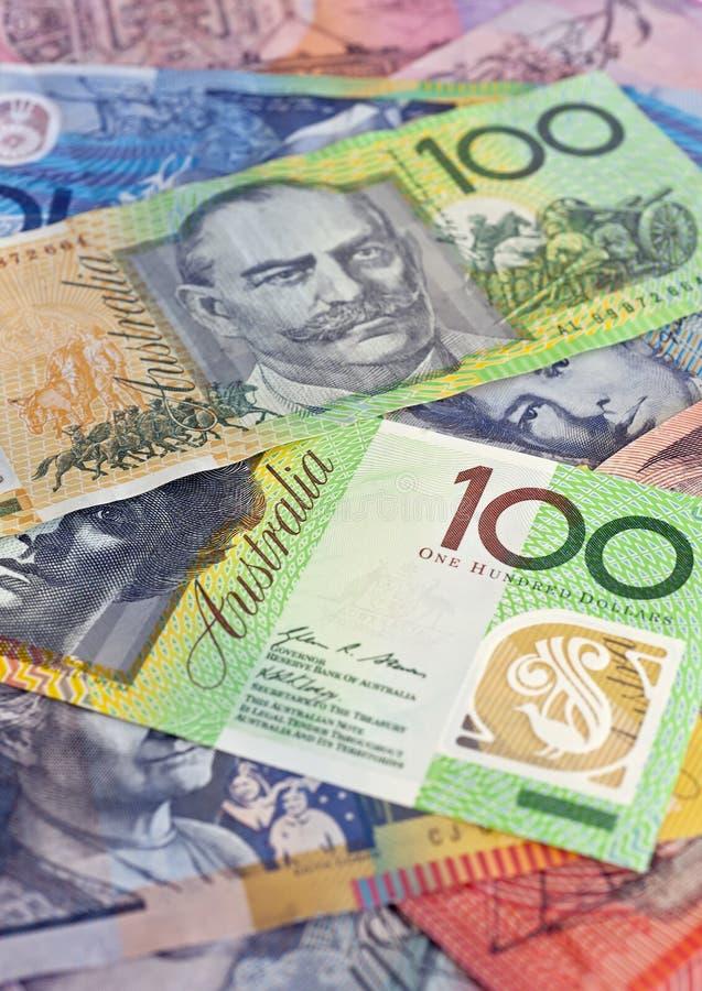 Seleção australiana do dinheiro foto de stock royalty free