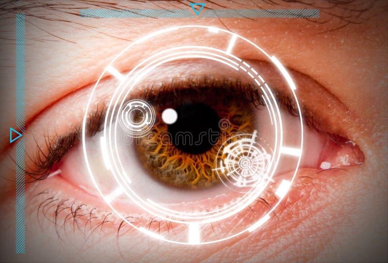 Seleção biométrica da segurança da varredura da íris fotos de stock royalty free