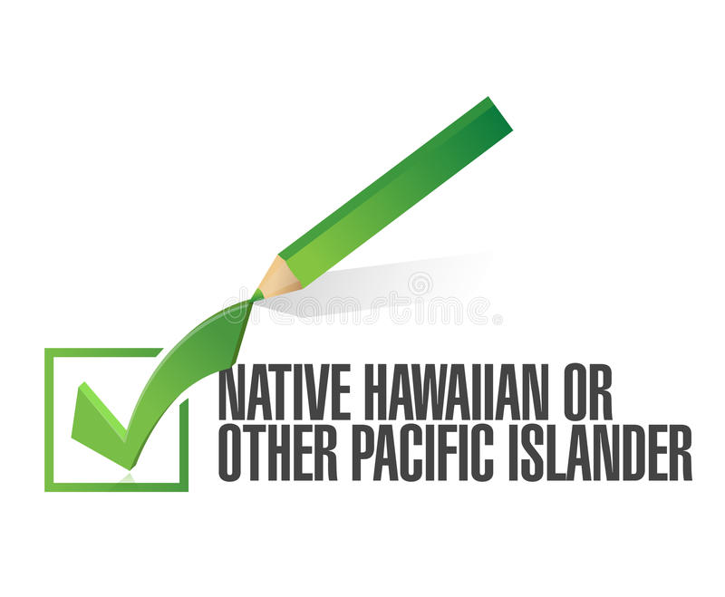 Seleção da raça. hawaiian nativo da picareta. ilustração ilustração royalty free