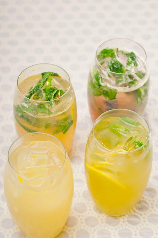 Seleção de bebidas longas dos frutos imagem de stock