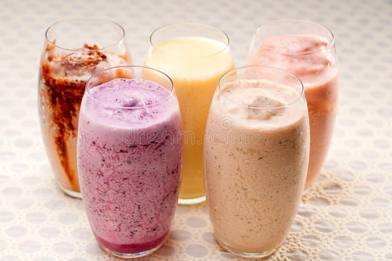 Seleção de bebidas longas dos frutos fotos de stock royalty free