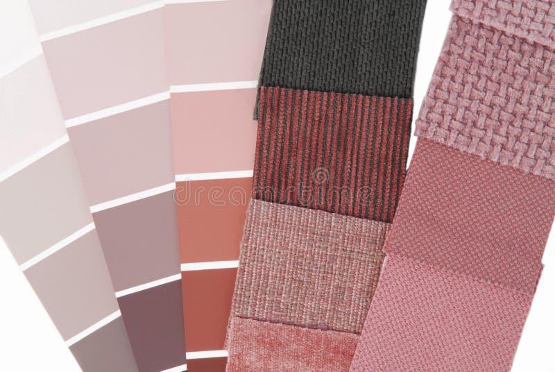 Seleção de cor da tapeçaria de estofamento fotos de stock royalty free