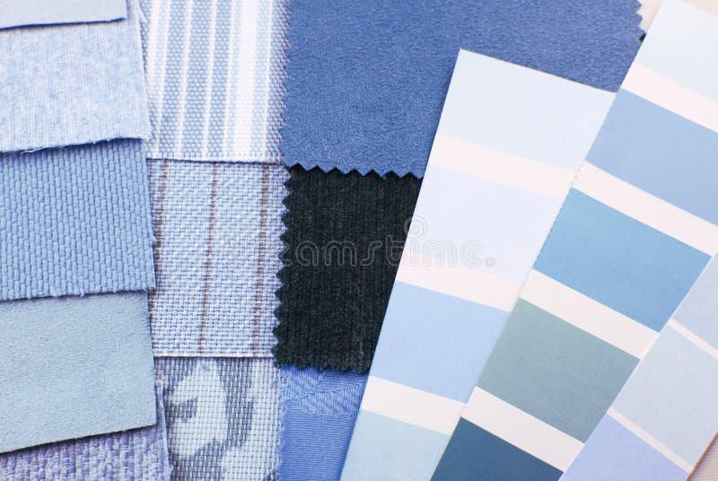 Seleção de cor da tapeçaria e do estofamento fotos de stock royalty free