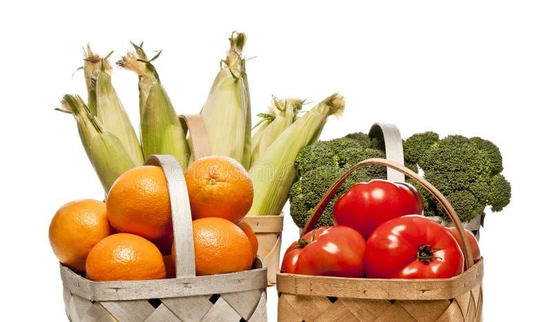 Seleção de frutas e legumes frescas de Healty fotos de stock