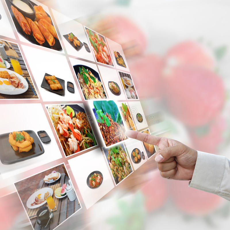 Seleção do alimento foto de stock royalty free