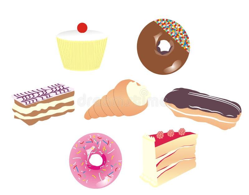 Seleção do bolo ilustração do vetor