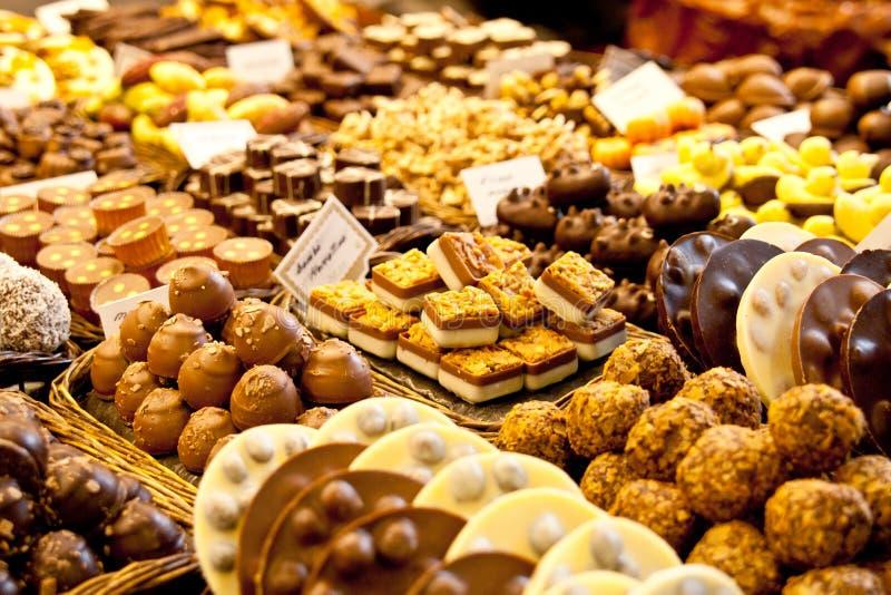 Seleção do chocolate foto de stock