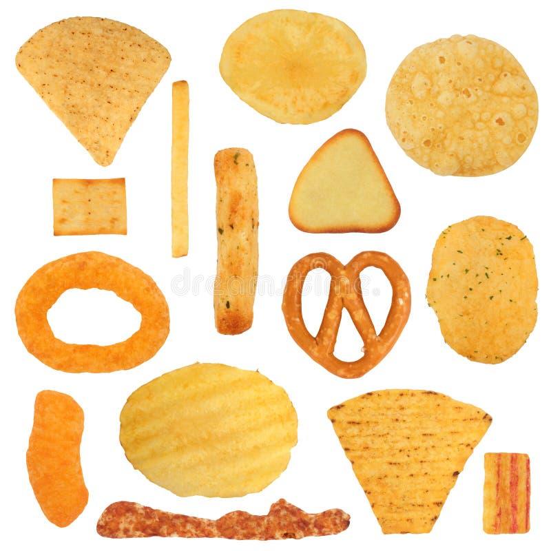 Seleção do petisco da comida lixo fotos de stock