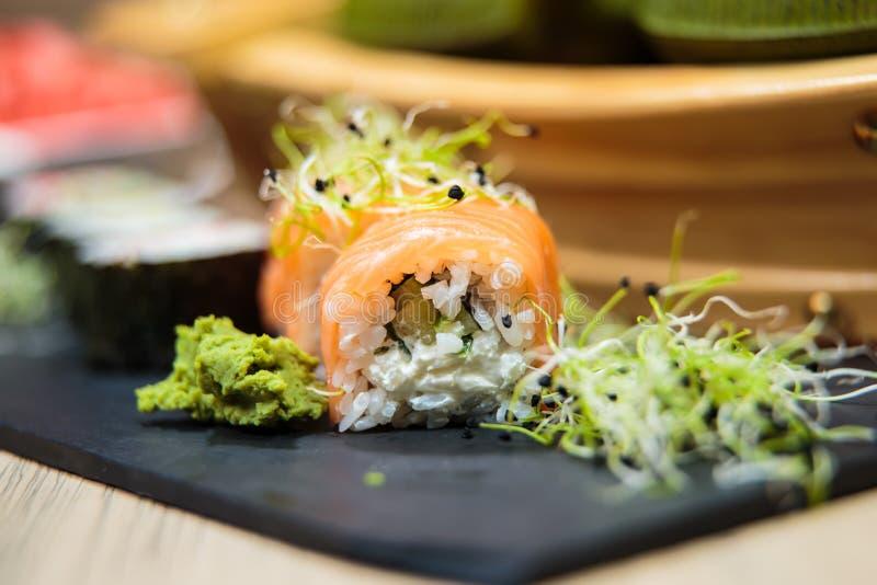 Seleção do sushi fotos de stock royalty free