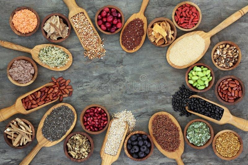 Seleção super do alimento fotografia de stock