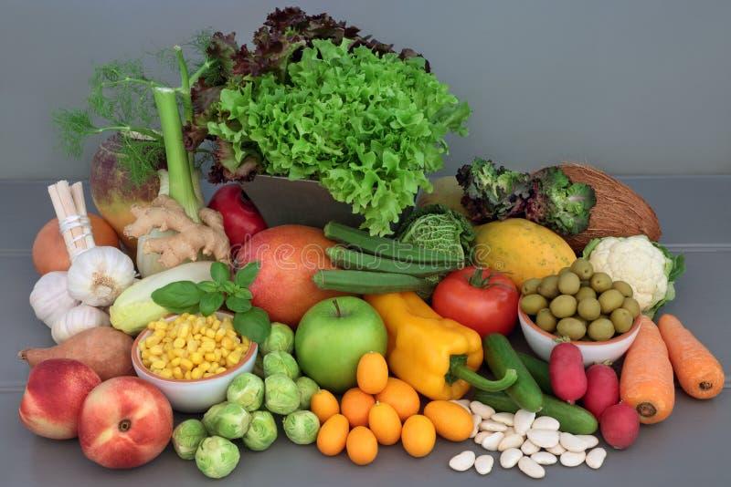 Selección alcalina de la comida sana imágenes de archivo libres de regalías
