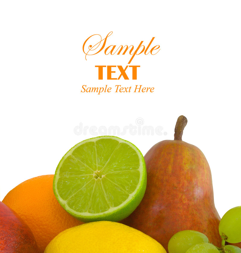 Selección de la fruta con el espacio de la copia fotografía de archivo libre de regalías