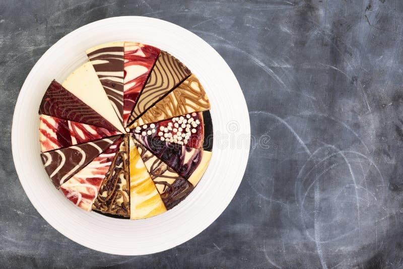 Selección de pastel de queso imágenes de archivo libres de regalías