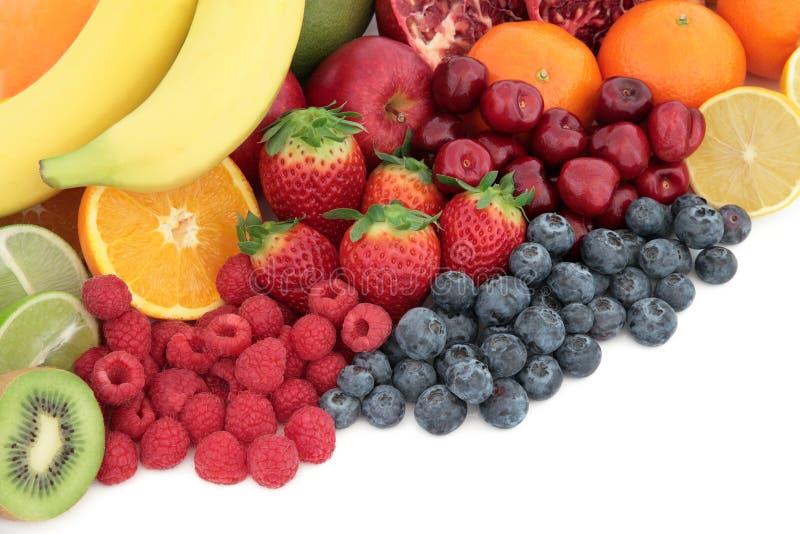 Selección de Superfood de la fruta fresca foto de archivo libre de regalías