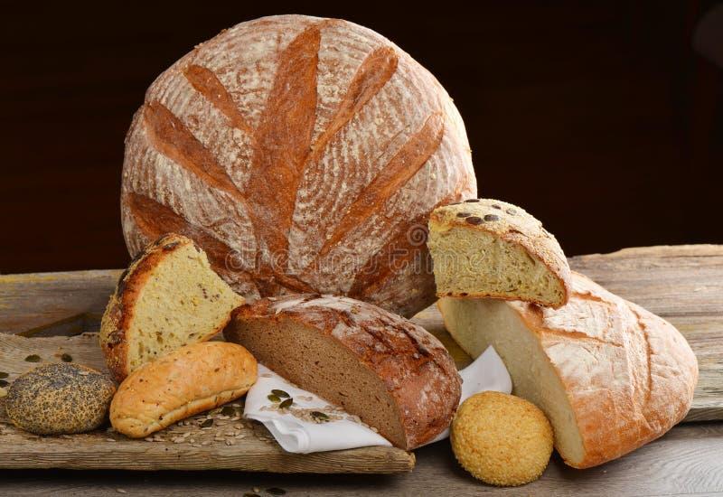 Selección del pan fresco imagen de archivo libre de regalías