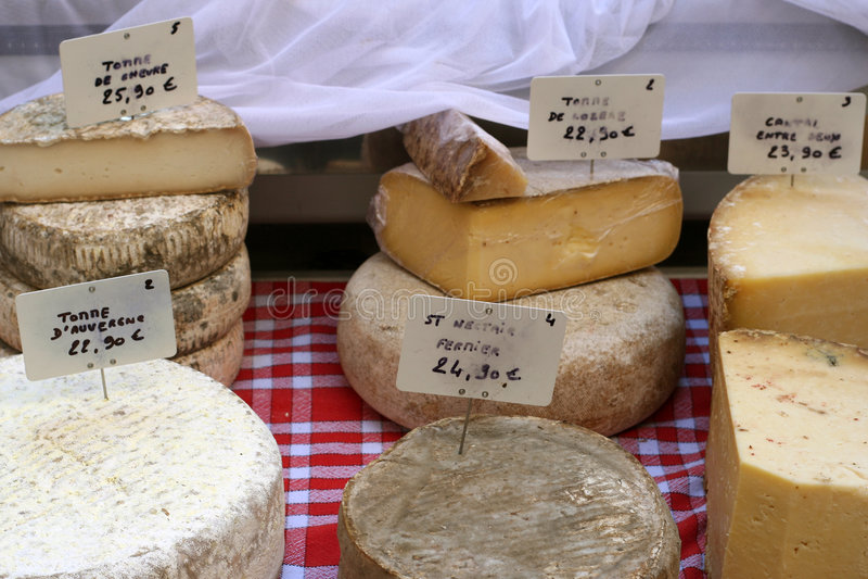 Selección del queso imagen de archivo