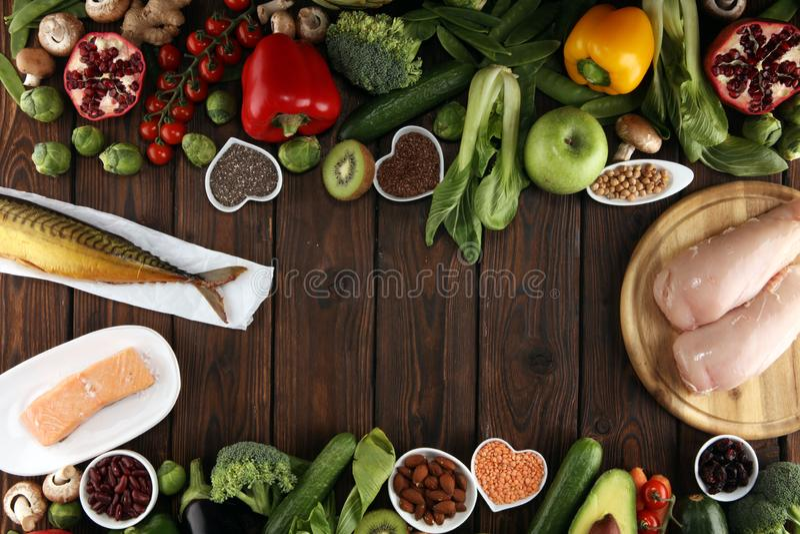 Selección limpia de la consumición de la comida sana E fotos de archivo libres de regalías