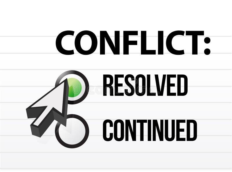 Selección resolved de la pregunta y de la respuesta del conflicto libre illustration