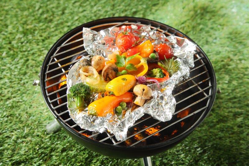 Selección sana fresca de verduras asadas a la parrilla foto de archivo libre de regalías