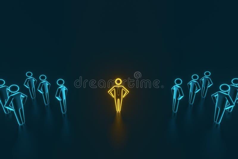Selección y búsqueda para un empleado o un cliente superior representaci?n 3d libre illustration