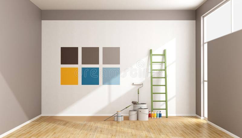 Seleccione La Muestra Del Color Para Pintar La Pared Stock de ...