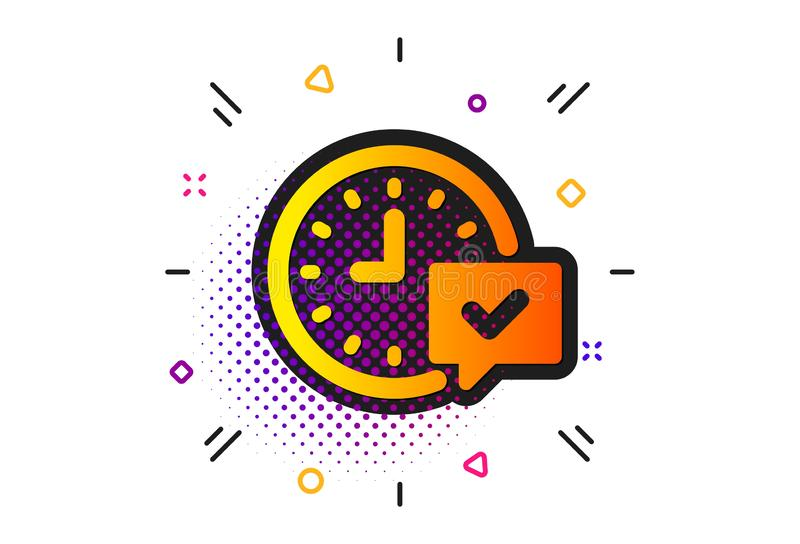 Time icon. Select alarm sign. Vector. Select alarm sign. Halftone circles pattern. Time icon. Classic flat select alarm icon. Vector vector illustration