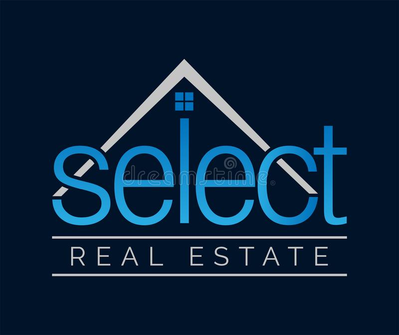 SELECT Beautiful Classical Blue Real Estate Logo stock images