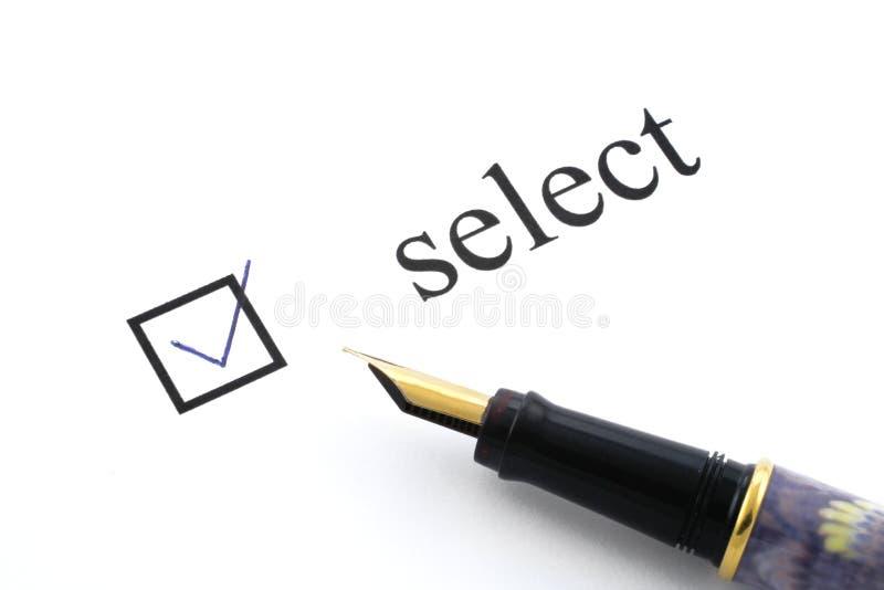 Select box ticked royalty free stock photos
