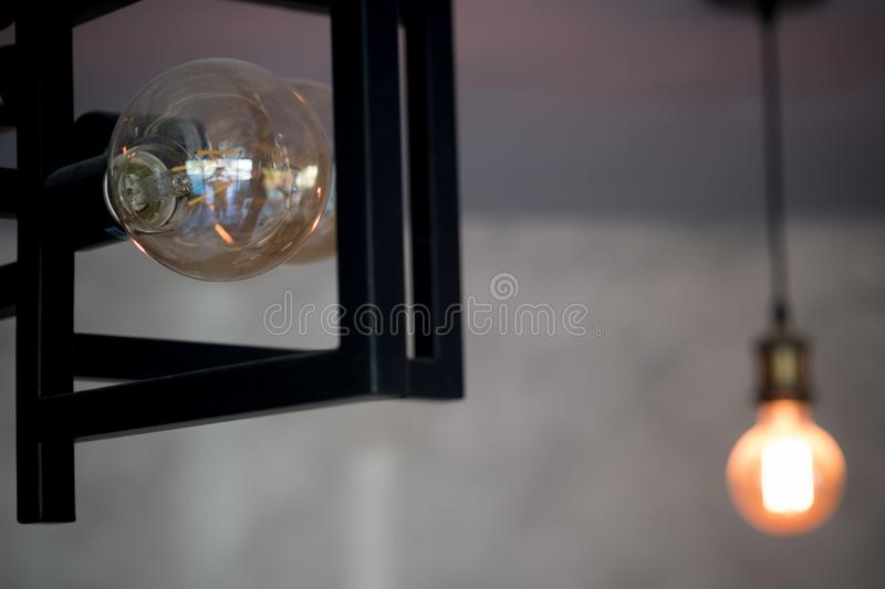 Select focus of vintage lamp royalty free stock photos