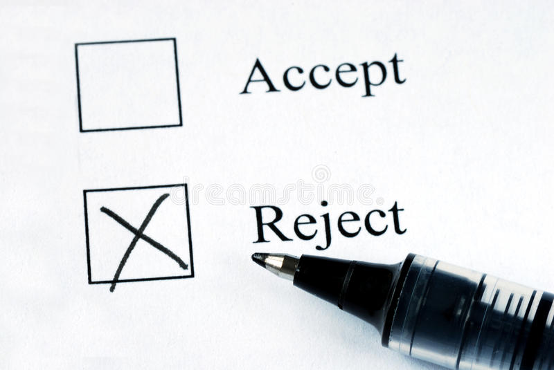 Select the Reject option royalty free stock images