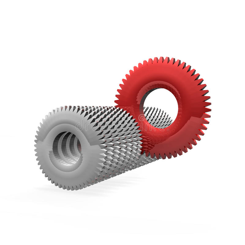 Download Selected cogs stock illustration. Image of grey, stand - 27721902