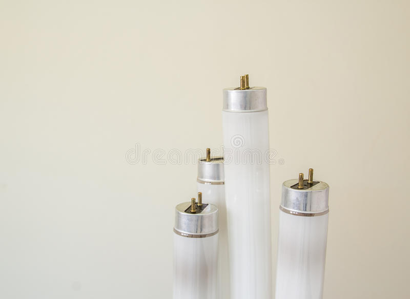 Selected focus fluorescent light tube. Short depth-of-field royalty free stock photos