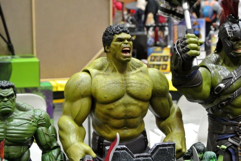 Selected fokuserade av Hulktecken, handling somdiagram från förundra sig komiker royaltyfria bilder