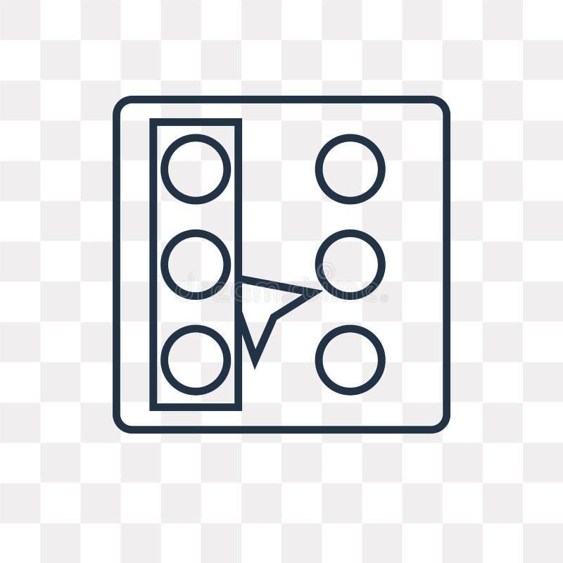 Selecteer al vectordiepictogram op transparante achtergrond, linea wordt geïsoleerd vector illustratie