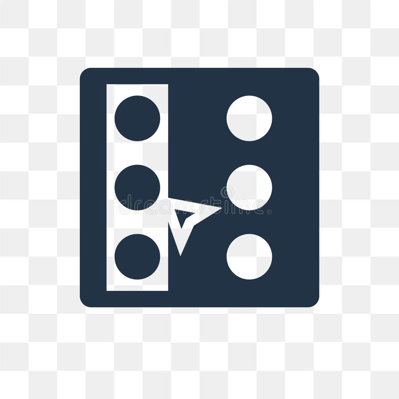 Selecteer al vectordiepictogram op transparante achtergrond, Selec wordt geïsoleerd royalty-vrije illustratie