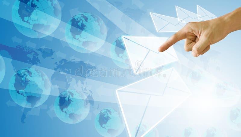 Selecteer en richt aan e-mail, Technologieconcept stock afbeelding