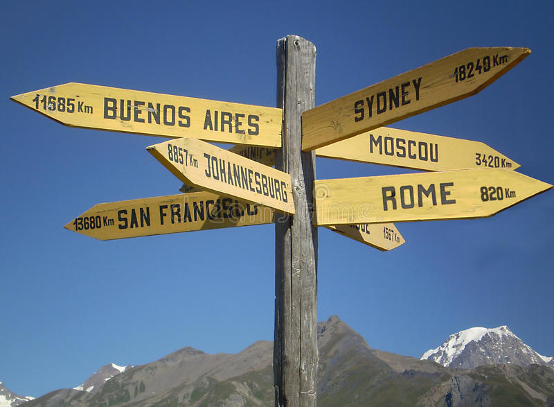 Selecterend vakantiebestemming - Toerismeconcept royalty-vrije stock foto's