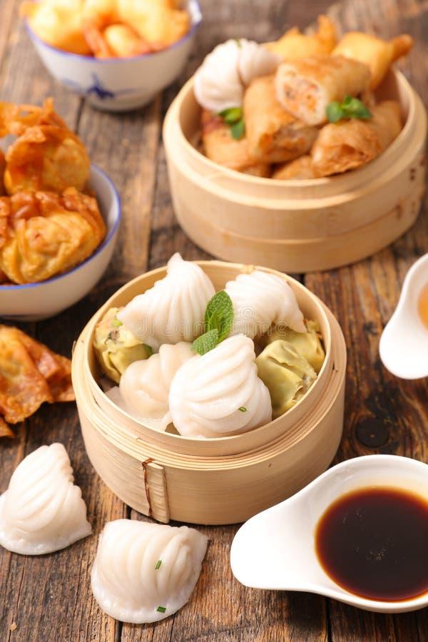 Selectie van Aziatisch voedsel stock afbeelding