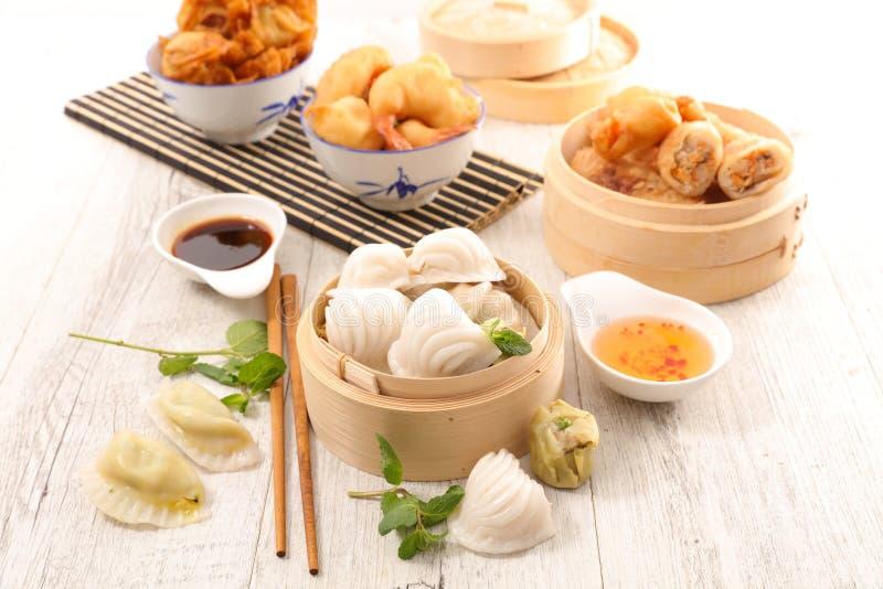 Selectie van Aziatisch voedsel royalty-vrije stock foto's