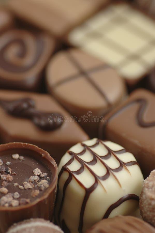 Selectie van de Chocolade van België royalty-vrije stock foto's