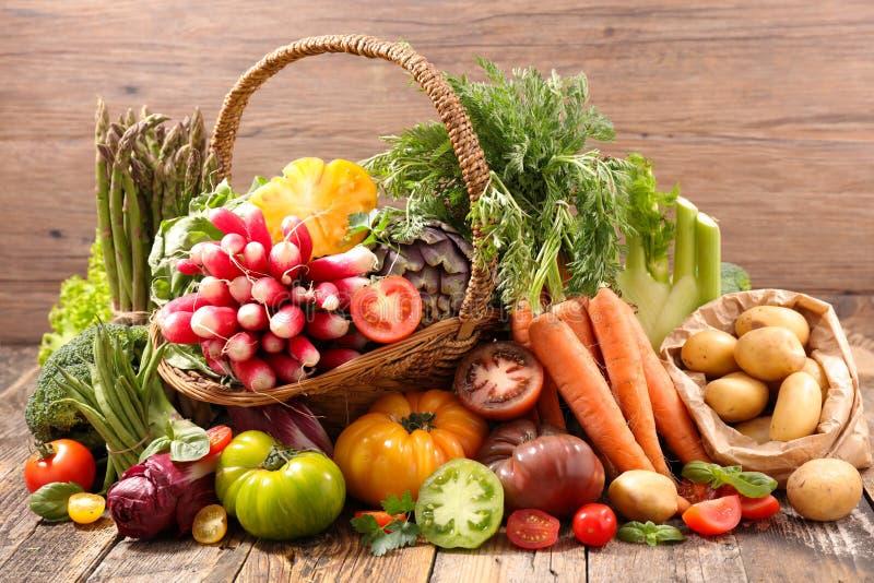 Selectie van fruit en groente royalty-vrije stock afbeelding
