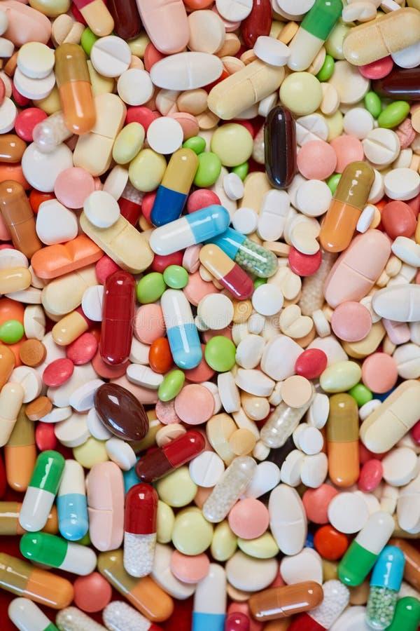 Selectie van geneesmiddelen als achtergrond royalty-vrije stock afbeeldingen