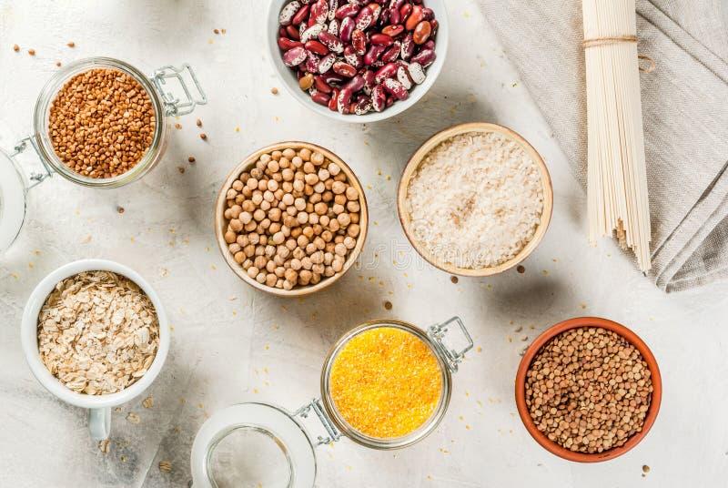 Selectie van gluten-vrije producten stock fotografie