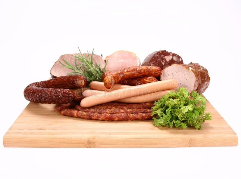 Selectie van koud vlees royalty-vrije stock foto
