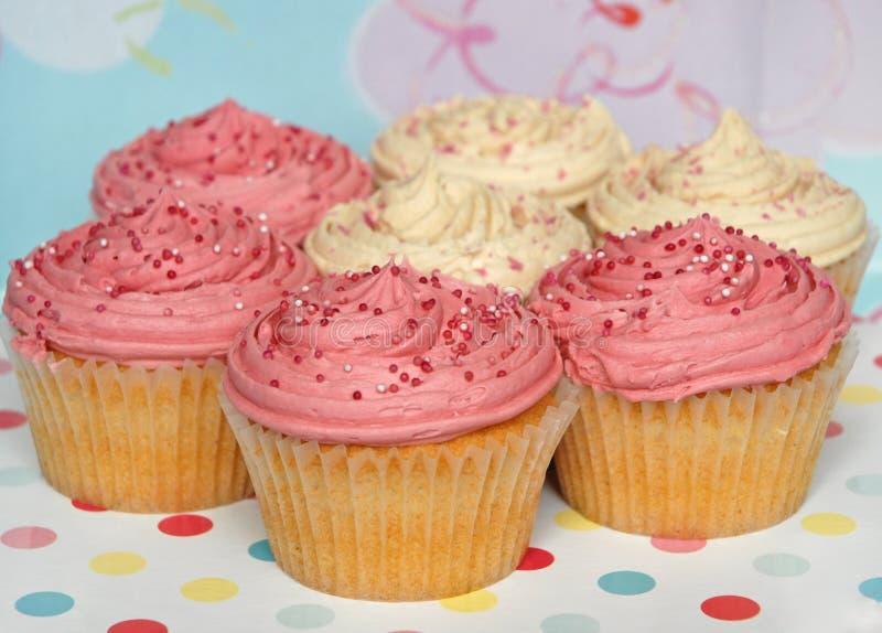 Selectie van partij cupcakes royalty-vrije stock foto's