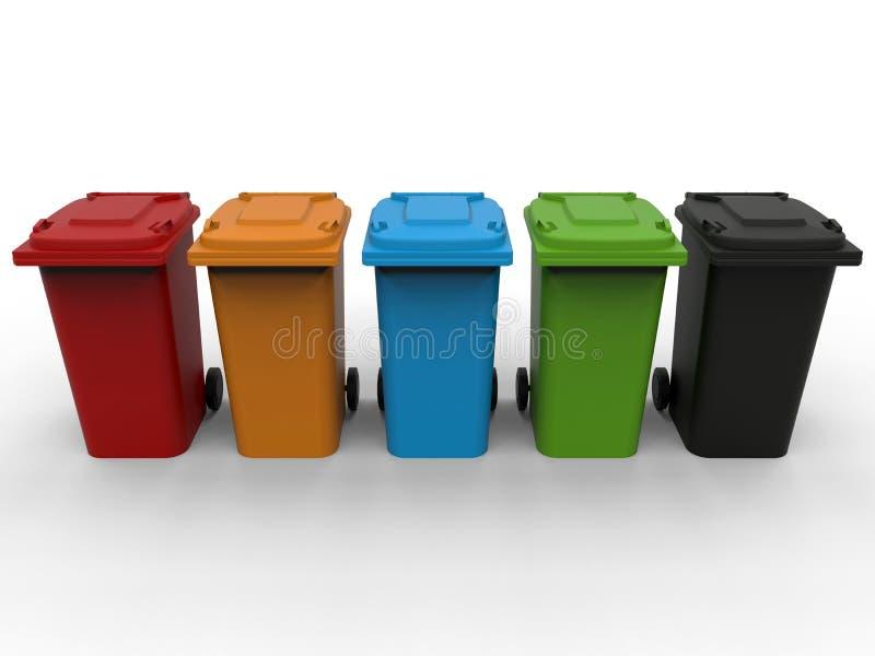 Selectief huisvuil dumpster royalty-vrije illustratie